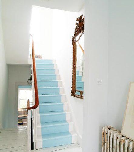 Et pourquoi pas peindre son escalier?