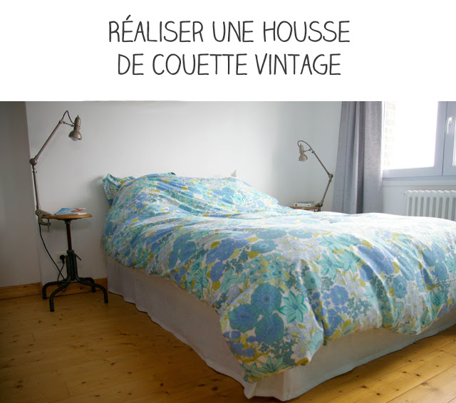diy r aliser une housse de couette vintage. Black Bedroom Furniture Sets. Home Design Ideas