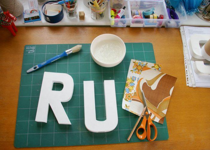 DIY : Customiser des lettres en carton