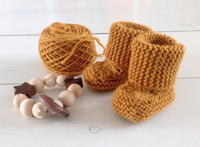 Chaussons pour bébé choux