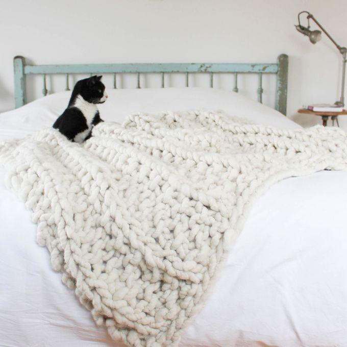 diy tricoter un plaid xxl. Black Bedroom Furniture Sets. Home Design Ideas