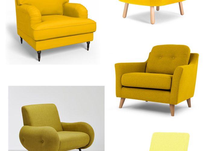 A la recherche du fauteuil jaune parfait