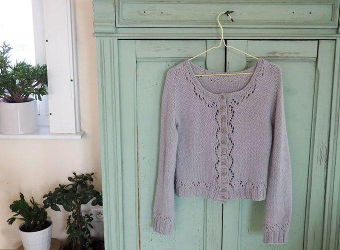 Tricot : le cardigan «Miette» et mes petites astuces pour le tricoter