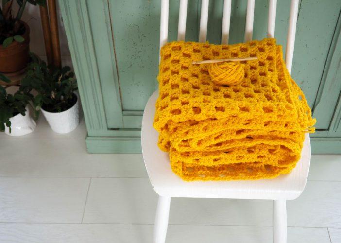 DIY : un plaid ensoleillé au crochet