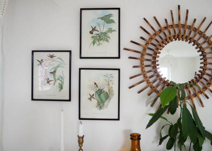 Retour de chine: les jolies gravures d'oiseaux.