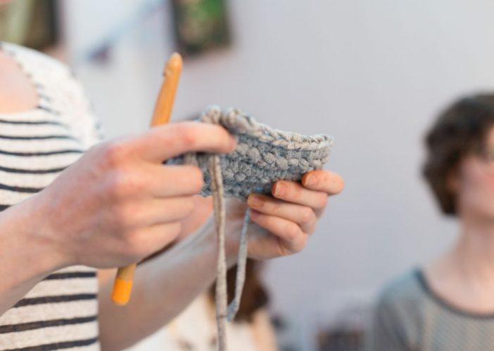 Premier atelier au crochet sur Lille: les photos!