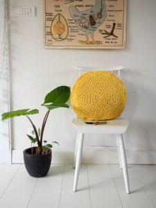 Patron coussin rond au crochet facile DIY simple pattern circle crochet