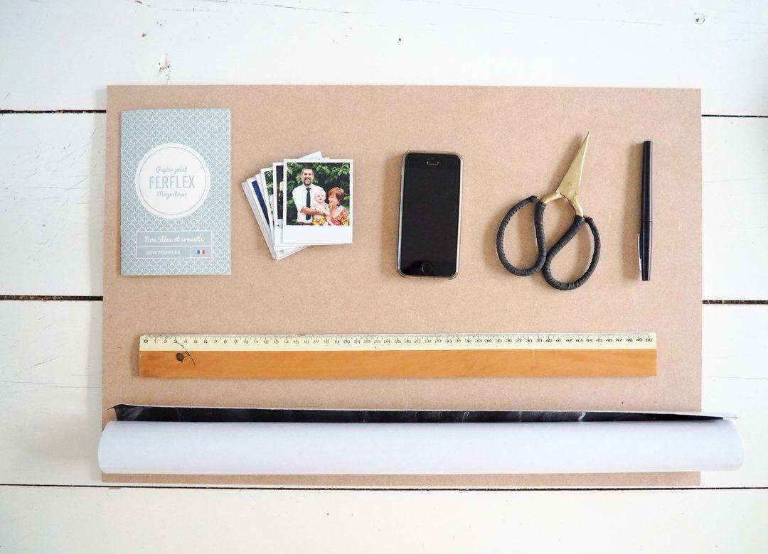 diy un semainier avec du papier peint magn tique. Black Bedroom Furniture Sets. Home Design Ideas