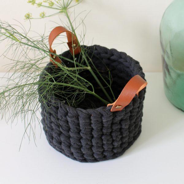 panier gris anthracite cuir (3)