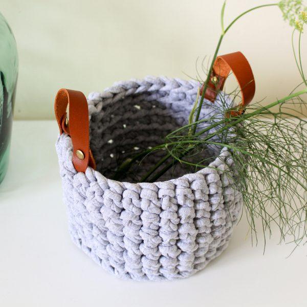 panier gris cuir (2)