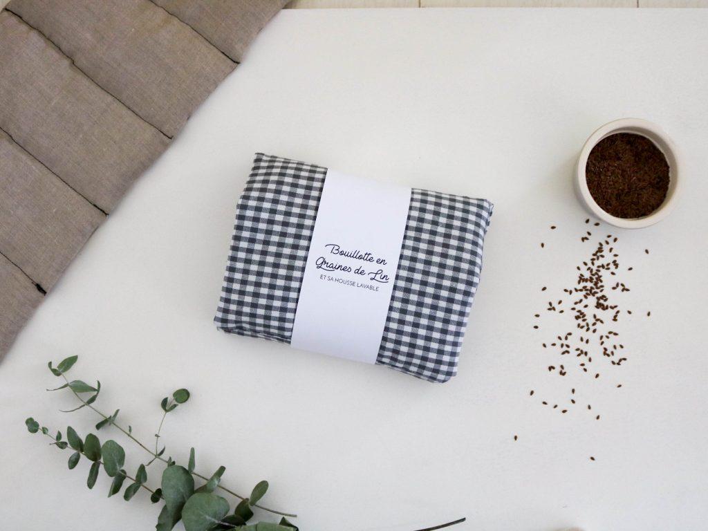 bouillotte en graines de lin et sa housse lavable conseils et mode d 39 emploi